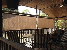 Coolaroo Outdoor Cordless Roller Shade 8ft By 6ft Feet Mocha Garden Outdoor
