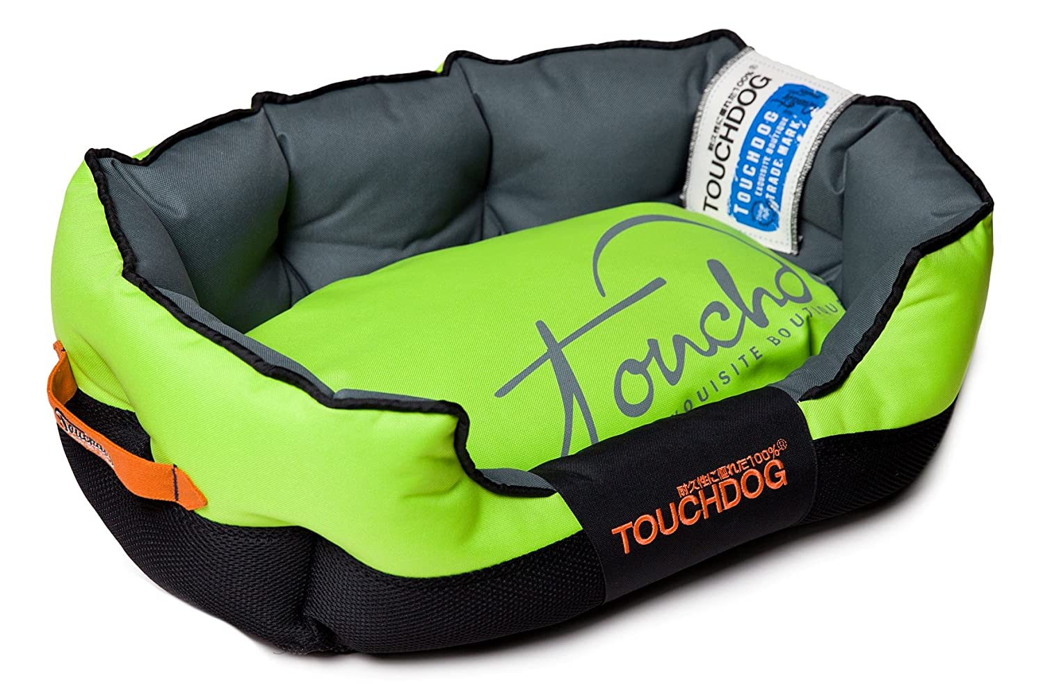 TOUCHDOG 'Performance-Max' Sporty Comfort Cushioned Reflective Water-Resistant Fashion Pet Dog Bed Mat, Medium, Mink Green, Black