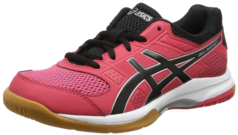Asics Gel-Rocket 8, Zapatos de Voleibol para Mujer 39 EU|Rosa (Rouge Red/Black/White 1990)