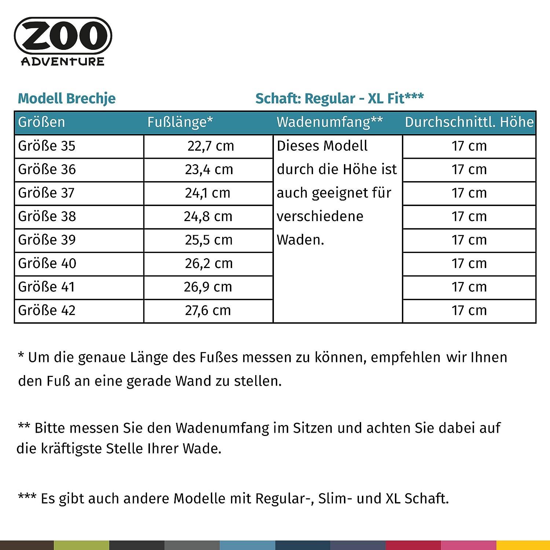 ZOO Adventure Brechje     Wasserdichte Outdoor Damenstiefel aus Leder   Kurze outdoorstiefel für Damen   mit Gummisohle   Grau 398b7f