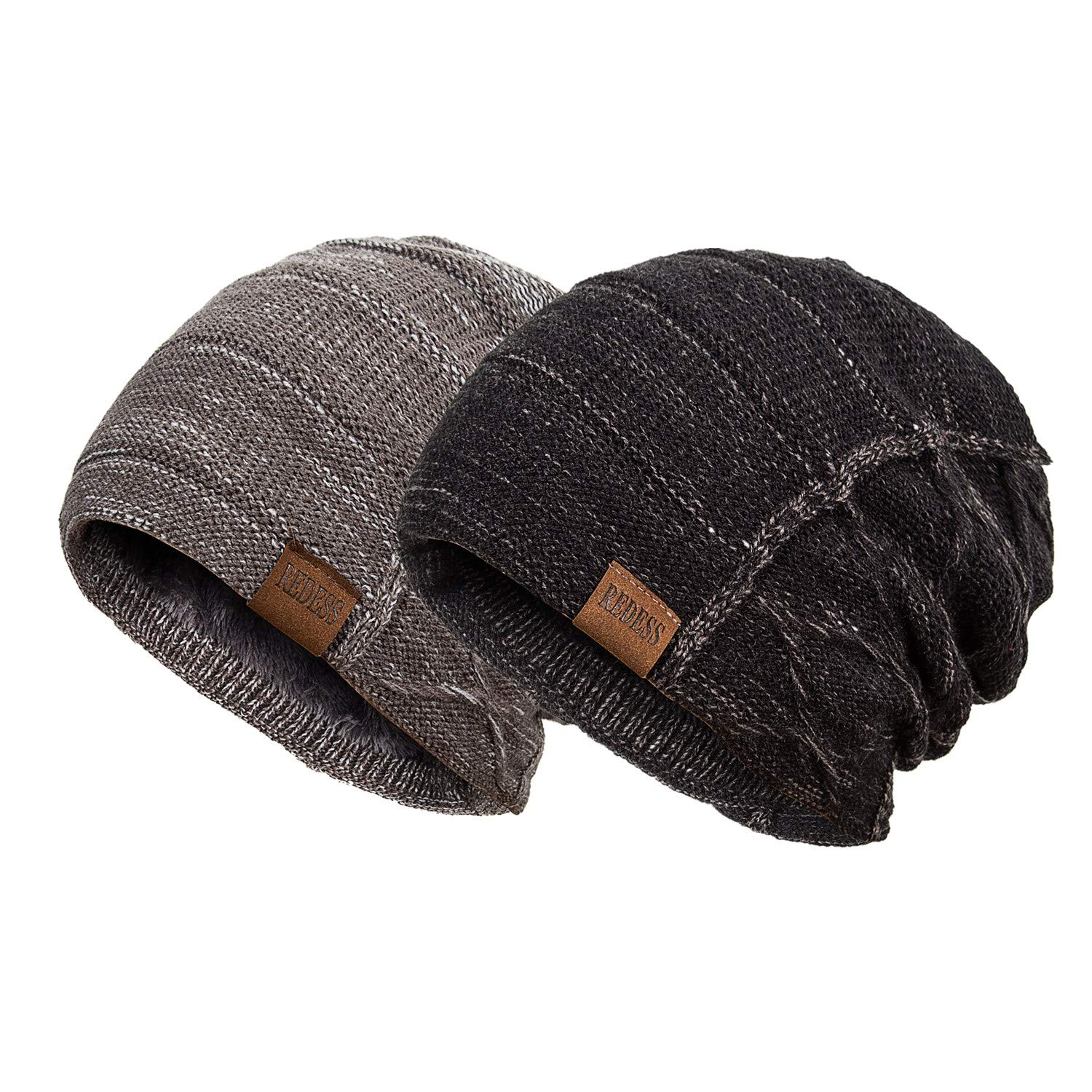 a03613e134b REDESS Beanie Hat for Men and Women Winter Warm Hats Knit Slouchy Thick  Skull Cap