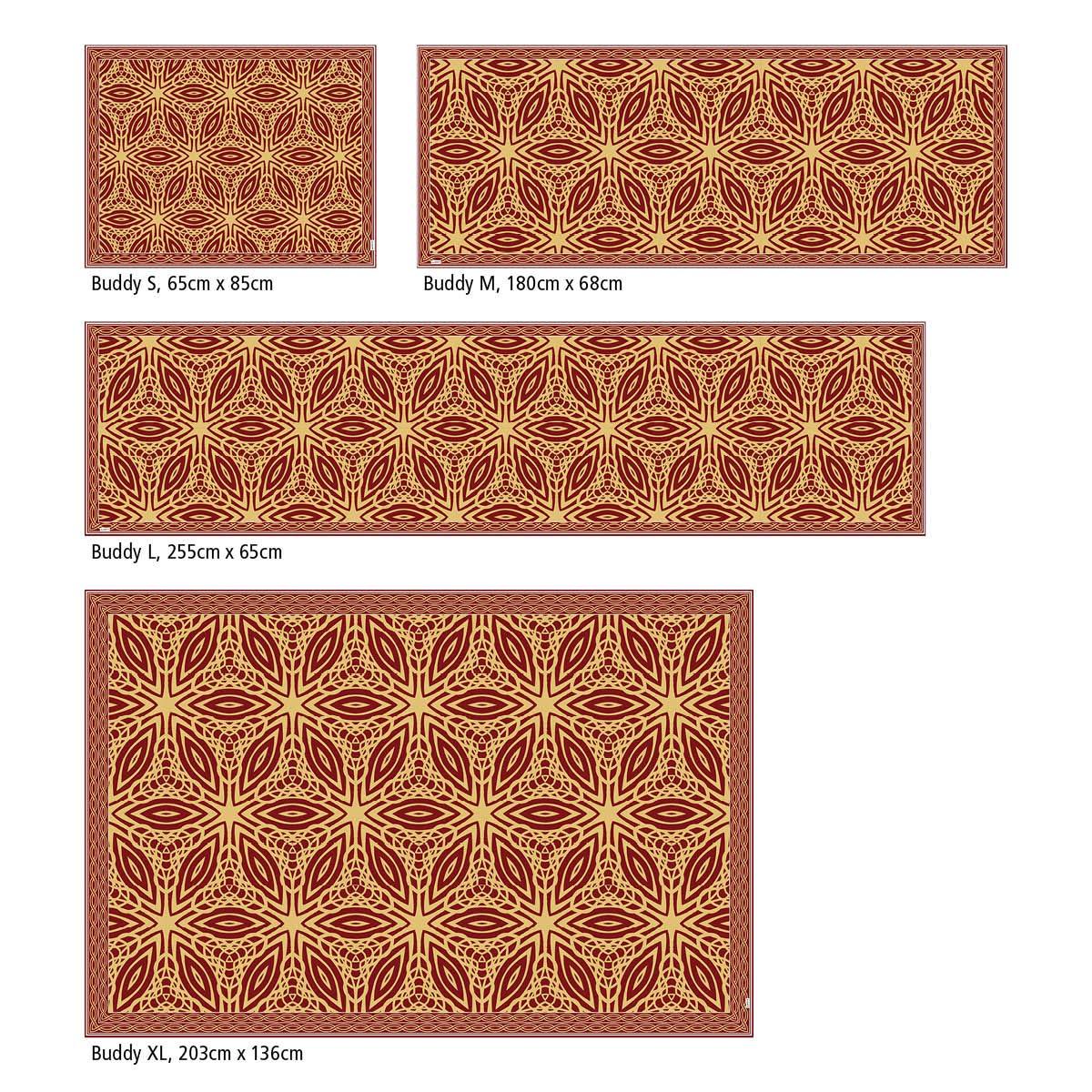 Myspotti Myspotti Myspotti - Buddy Chadi Rutschfeste Bodenschutzmatte aus Vinyl Badematte Küchenläufer Wohnzimmer Deko (180 x 68 cm) B07H9W1TV4 Lufer f8f815