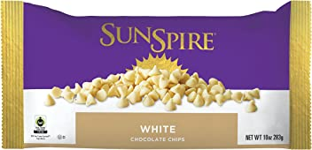 SunSpire Fair Trade White Chocolate Chips, 10 Ounce