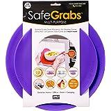 Safe Grabs: Multi-Purpose Silicone Original Microwave Mat as Seen on Shark Tank | Splatter Guard, Trivet, Hot Pad, Pot Holder