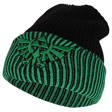 86002f61d40 Armycrew legend of zelda triforce logo reversible long cuff beanie black  green jpg 385x385 Zelda green