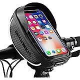 ROCKBROS Bike Phone Mount Bag Bike Front Frame Handlebar Bag Waterproof Bike Phone Holder Case Bicycle Accessories Pouch Sens