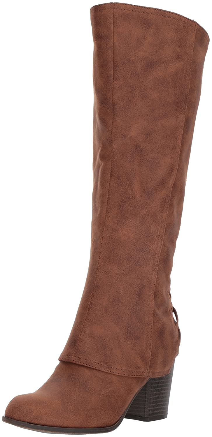 Fergalicious Women's Tootsie Wide Calf Knee High Boot B06XSVG9BX 10 B(M) US|Cognac