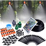 """MIXC 1/4-inch Mist Irrigation Kits Accessories Plant Watering System with 50ft 1/4"""" Blank Distribution Tubing Hose, 20pcs Mis"""