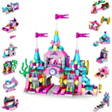 LUKAT Building Toys for Girls Age 6 7 8 9 10 11 12 Year Old, 568pcs Princess Castle STEM Construction Toys Set, 25 Models Edu