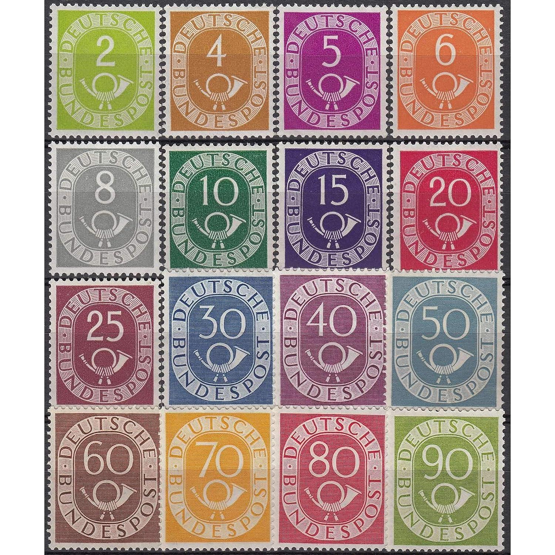 Goldhahn BRD Nr. 123-138 Bund postfrischPosthorn geprüft Schlegel Briefmarken für Sammler