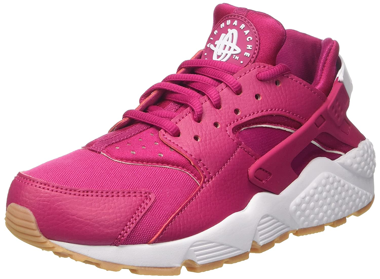 NIKE Men's Air Huarache Running Shoes B071RGMMVB 7 B(M) US|Sport Fuchsi/White/Gum Yellow