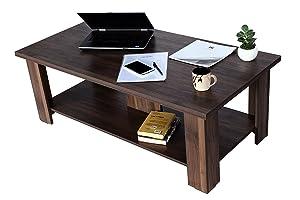 DeckUp Minang Coffee Table (Walnut, Matte Finish)
