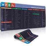 Cheelom Alfombrilla de ratón grande para juegos, mouse pad con base antideslizante, alfombrilla de escritorio impermeable de