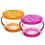 Munchkin 2 Piece Snack Catcher, Pink/Orange