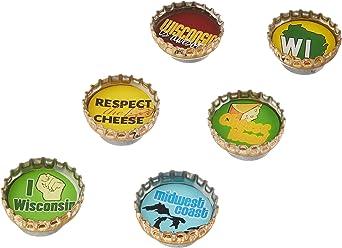 Kate Grenier Designs Wisconsin Bottle Cap Magnets