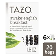 Tazo  Awake English Breakfast Tea Bag 20 count, pack of 6