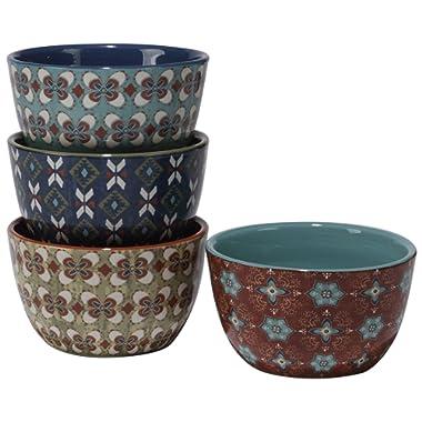 Certified International Monterrey Ice Cream Bowls (Set of 4), 6  x 3.25 , Multicolor