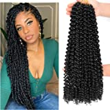 Dansama 6 Packs Passion Twist Hair Water Wave Braiding Hair for Butterfly Style Crochet Braids Bohemian Hair Extensions (18in