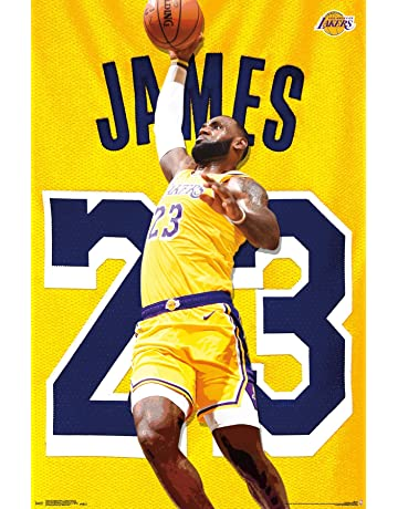 c52bb35ecbea Trends International Los Angeles Lakers - Lebron James Action Wall Poster  22.375