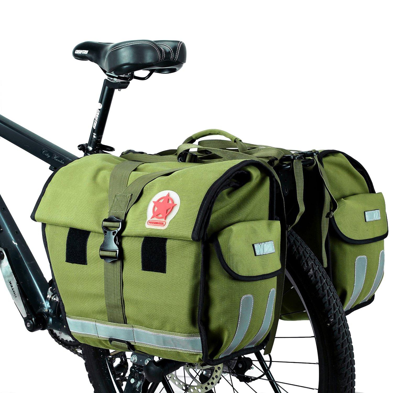 DCCN 40L Bolsa Sillín Alforjas Tija Sillín de Ciclismo para Bici de Diseñada Cesta Alforjas para