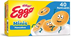 Eggo Mini Frozen Pancakes, Frozen Breakfast, All Day Kids Snacks, Original, 14.1oz Box (40 Mini Pancakes)