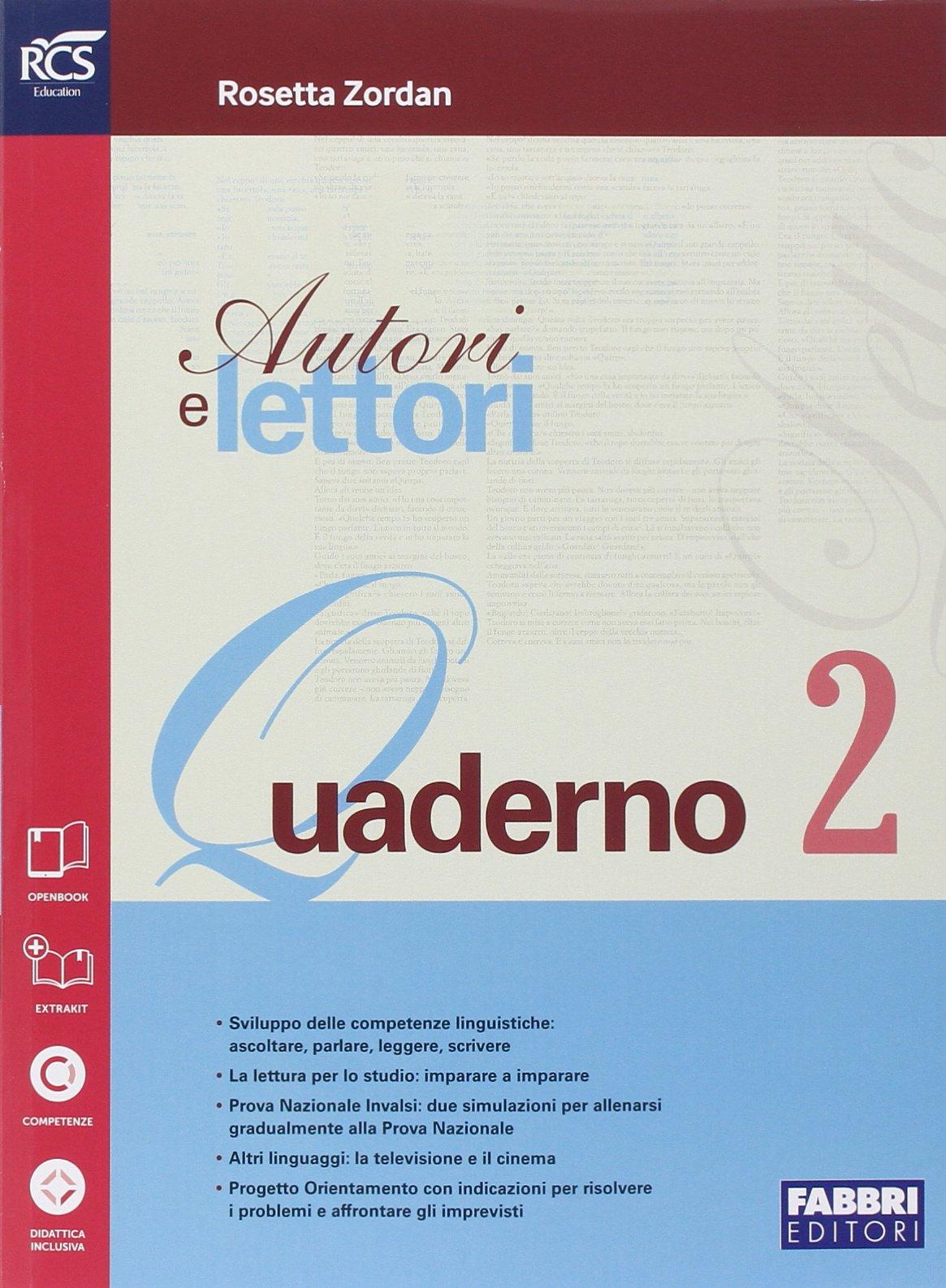 Amazon It Autori E Lettori Quaderno Per La Scuola Media Con E Book Con Espansione Online Vol 2 Zordan Rosetta Libri