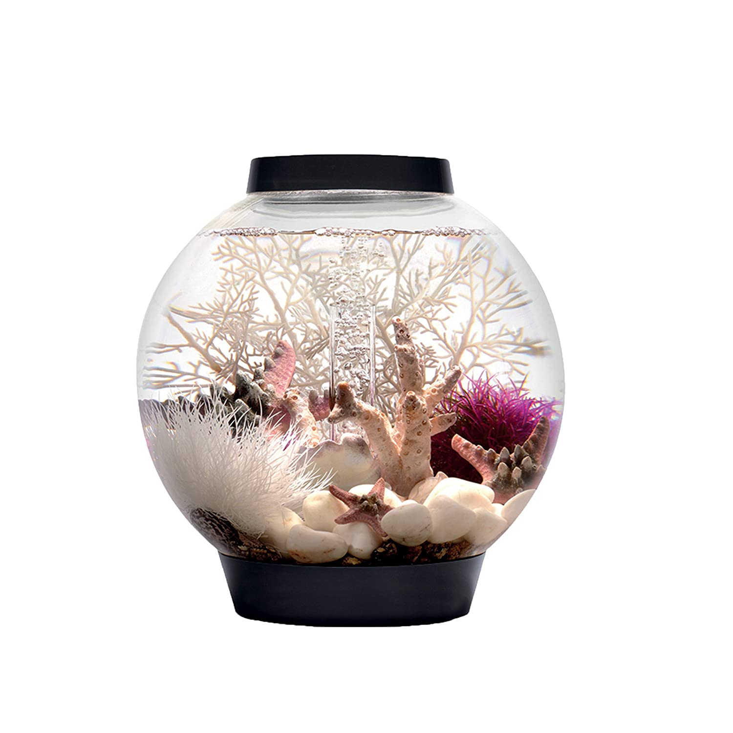 Black 4 Gallons Black 4 Gallons Reef One Baby biOrb Aquarium with Led Light, Black, 4 Gallons