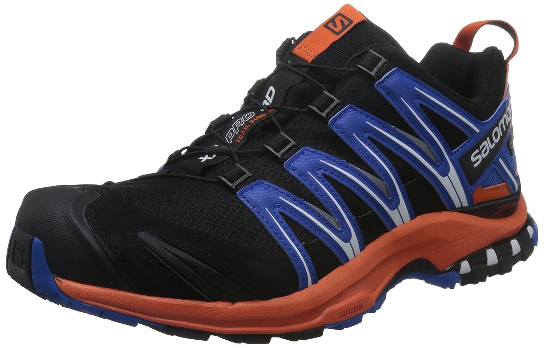 Salomon XA Pro 3D GTX, Calzado de Trail Running para Hombre 43 1/3 EU|Negro (Black/Flame/Nautical Blue)