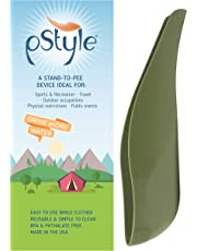pStyle | Female urination device for women, non-binary folks, and trans men | Stand to pee with ease while fully clothed | Reusable pee funnel is a game changer for camping, music festivals, and more!