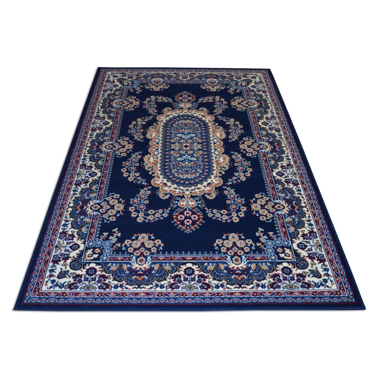 WEBTAPPETI Klassisch Teppich - Orient Teppiche - Teppich Living - ROYAL Shiraz 2063-Blau 140x210