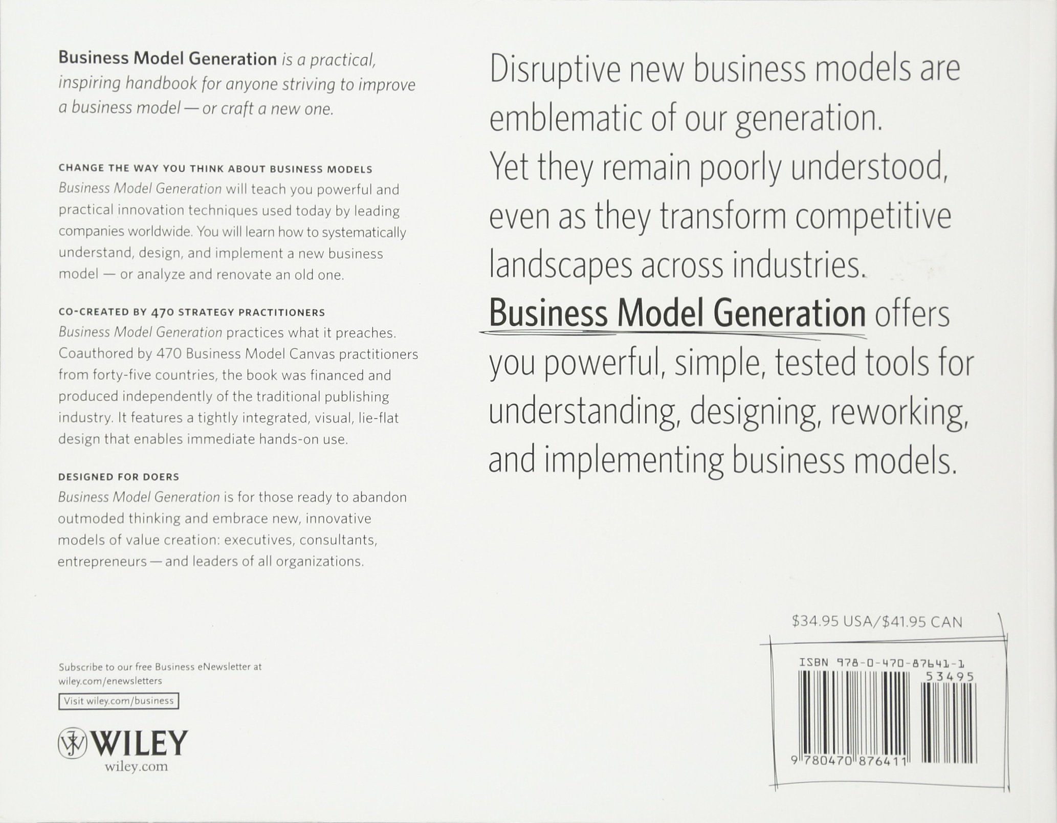 Business Model Generation A Handbook For Visionaries Pdf