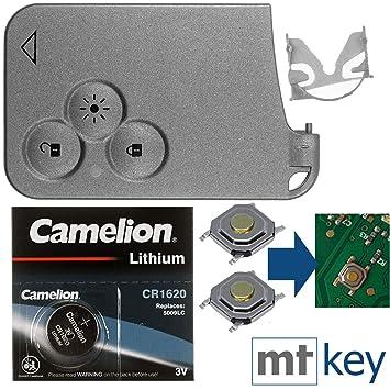 Auto Llave Mando a distancia 1 x llaves-tarjeta Carcasa 3 botones ...