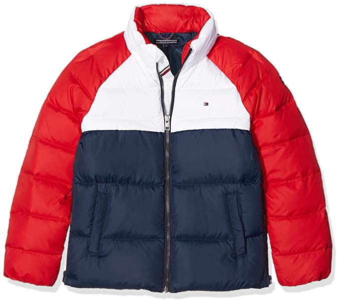 6d7774cf83 Tommy Hilfiger Girl's Thkg RWB Down Colorblock Jacket