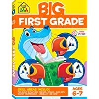 School Zone - Big First Grade Workbook - Ages 6 to 7, 1st Grade, Basic Math, Addition & Subtraction, Telling Time, Reading, Phonics, and More (School Zone Big Workbook Series)