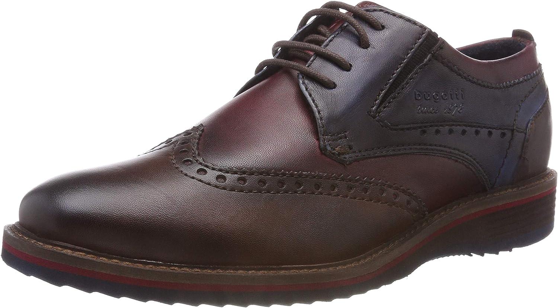 TALLA 43 EU. bugatti 311599034141, Zapatos de Cordones Derby para Hombre