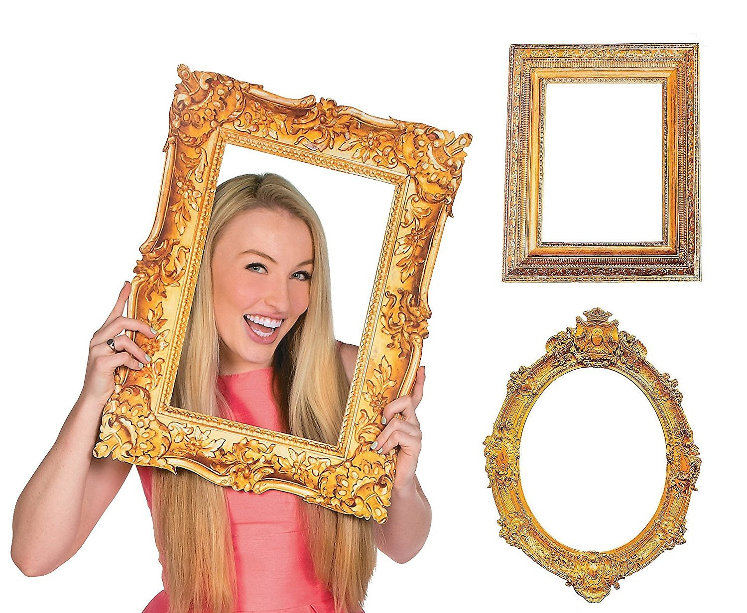 Amazon.com - Deluxe Gold Picture Frame Cutouts (3 Piece Variety Pack) -