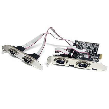 Amazon com: StarTech com 4 Port Native PCI Express RS232