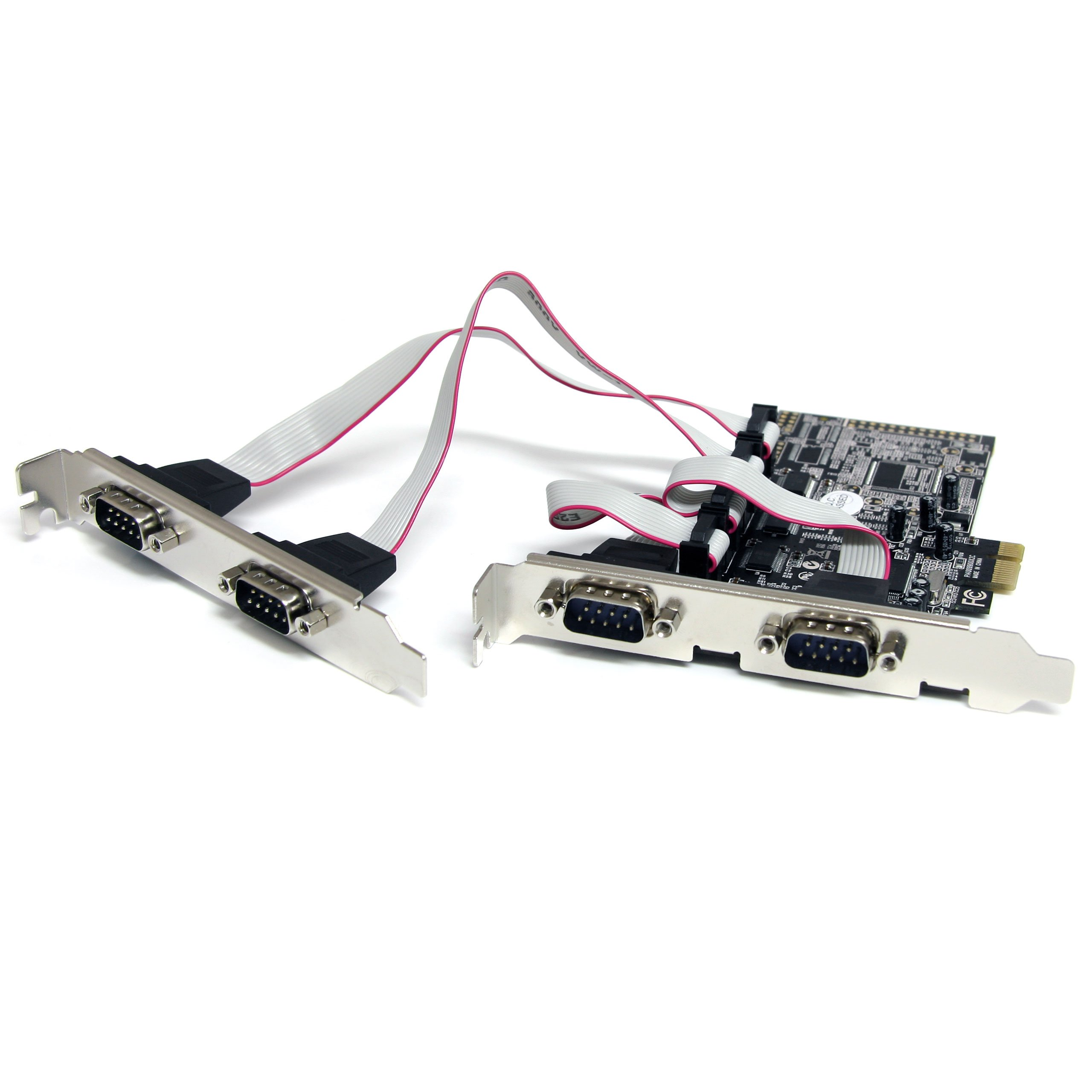 StarTech.com 4-Port Native PCI Express RS232 Serial Adapter Card with 16550 UART (PEX4S553) by StarTech