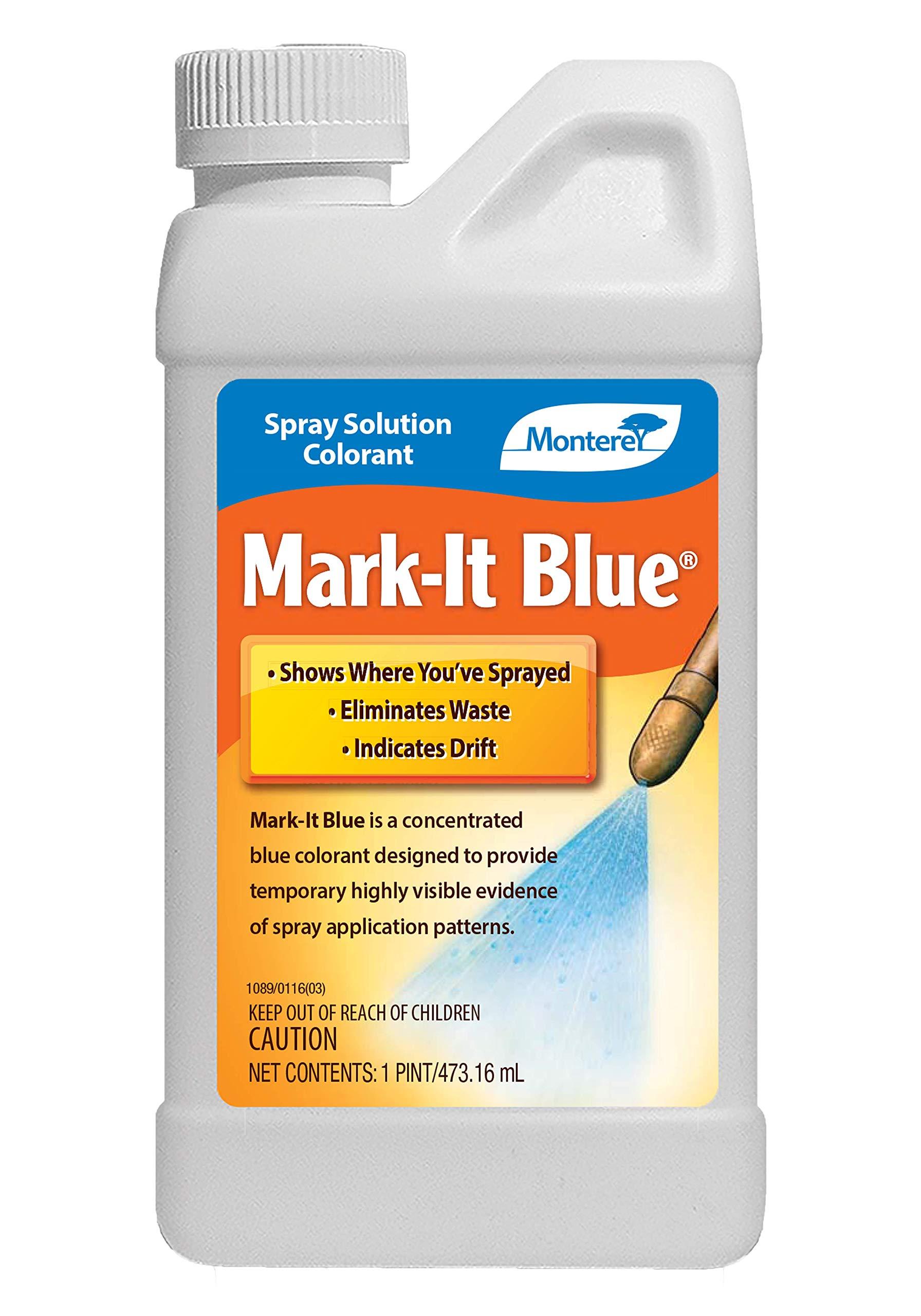 Monterey LG1142 Spray Solution Colorant Mark-It Blue Dye, 16 oz, White