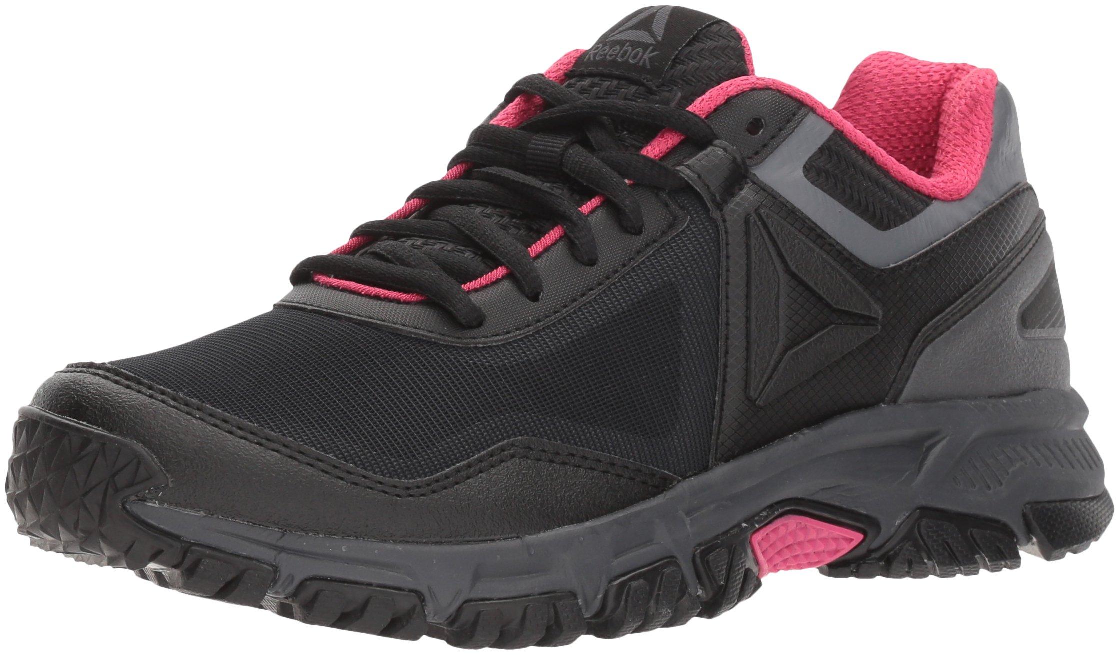 Reebok Women's Ridgerider Trail 3.0 Sneaker, Black/Ash Grey/Acid Pink, 8 M US
