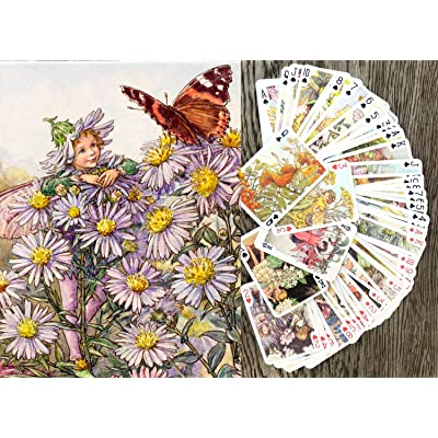 Flower Fairy Playing Cards (Poker Deck 55 Cards All Different) Flower Fairy Cicely Barker Vintage Photo Book Illustration: Sports & Outdoors