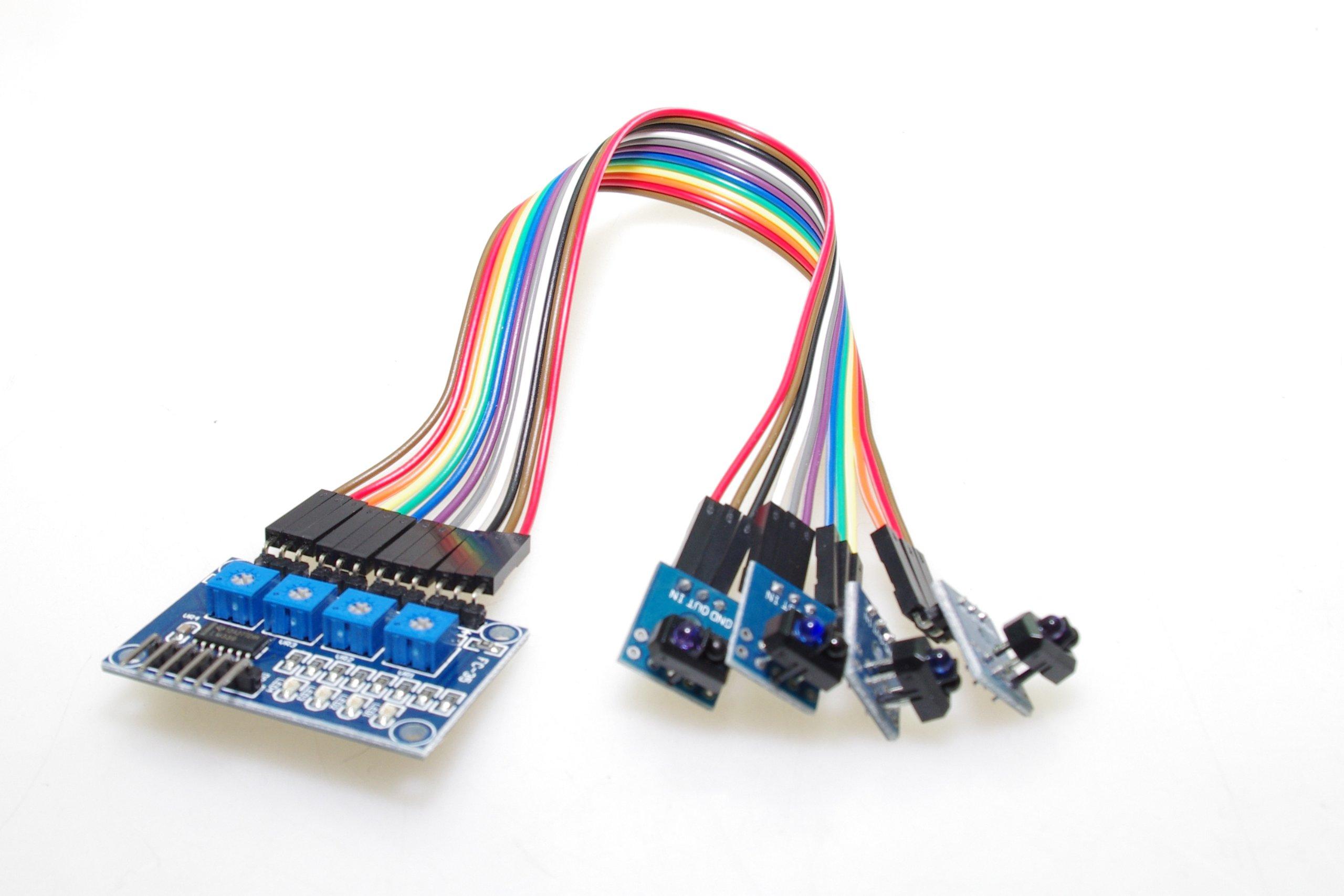 SMAKN® TCRT5000 4CH Infrared Line Track Follower Sensor Module for Smart Car