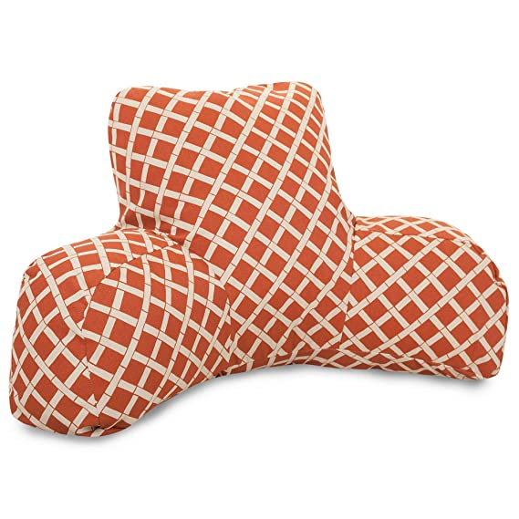 Majestic Home Goods Bamboo Reading Pillow, Burnt Orange