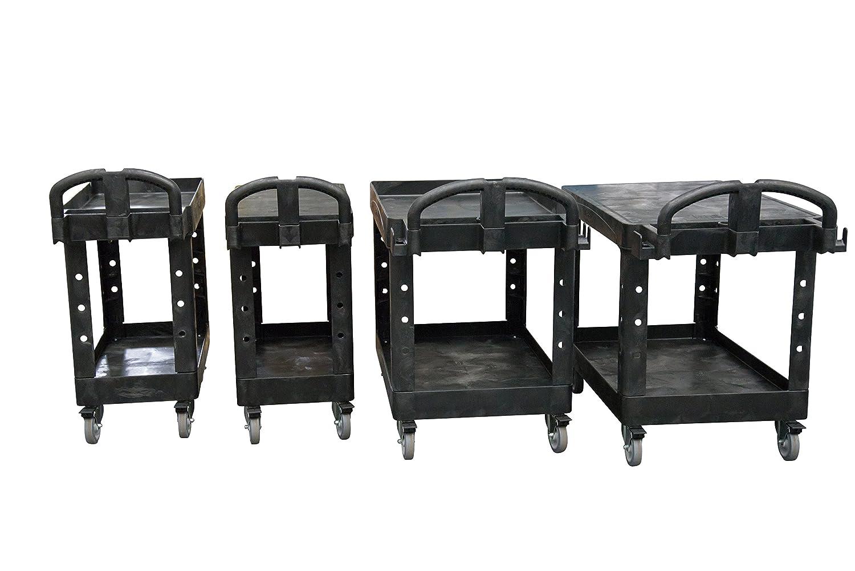 tama/ño peque/ño Mesilla auxiliar con ruedas Rubbermaid Commercial Products FG450558 negro