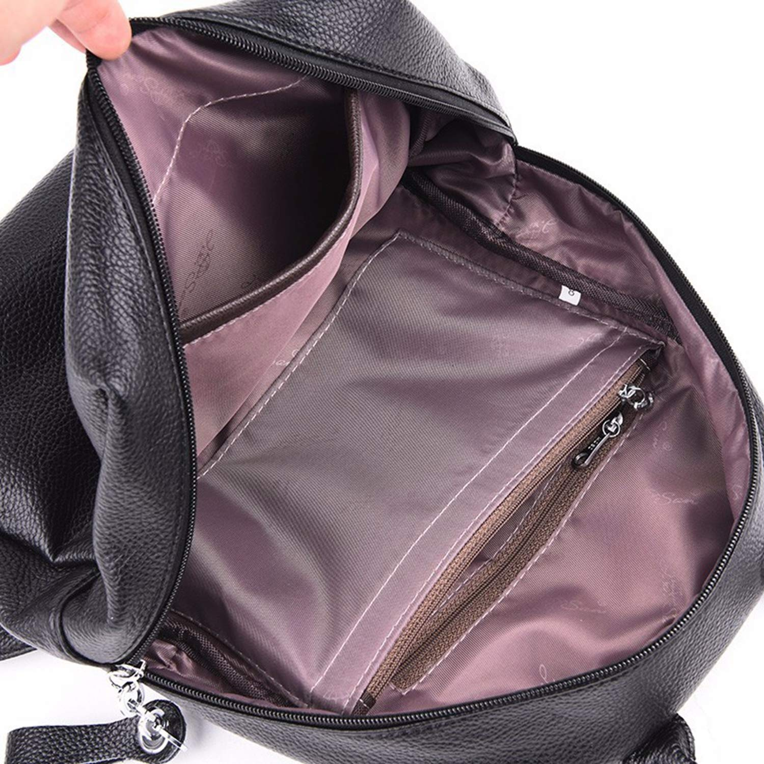 Amazon.com: New Bagpack 2019 Women Leather Backpacks for Girls Large Capacity Travel Bagpack Vintage Female Back Pack School Bags for Girls Mochilas: ...
