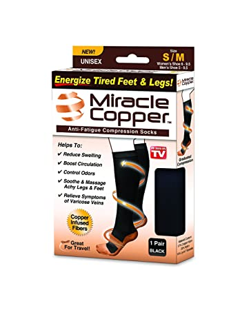 6cea8fcde2 Image Unavailable. Image not available for. Color: Miracle Copper Anti-Fatigue  Compression Socks ...