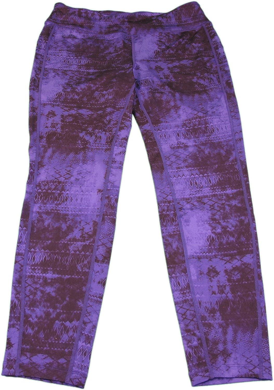 Tangerine Ladies Athletic Capri Workout Pants Deep Purple Devine