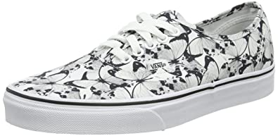 e09fb00e0eceaa Image Unavailable. Image not available for. Color  Vans Unisex Authentic ( Butterfly) True White Bl ...
