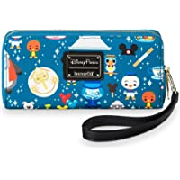 Disney Parks Attractions Minis Zip-Around Wristlet Wallet by Loungefly