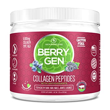 Berry Gen Restore (1) Dual Action COLLAGEN, Grass-Fed Collagen Peptides, Great Tasting, Easy...